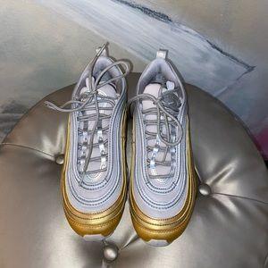 Nike Womens Air Max 97 - Gold & Silver